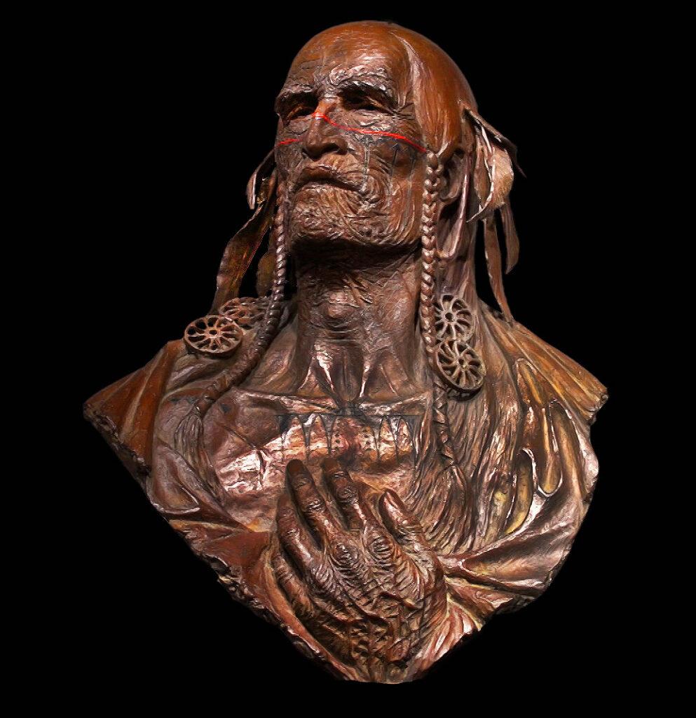 Sculpture of Sconondoa (Shenandoah)